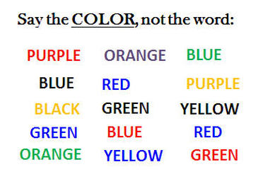 Image result for stroop task